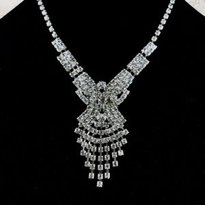 Jewelry - Silver Costume Necklace and Earrings